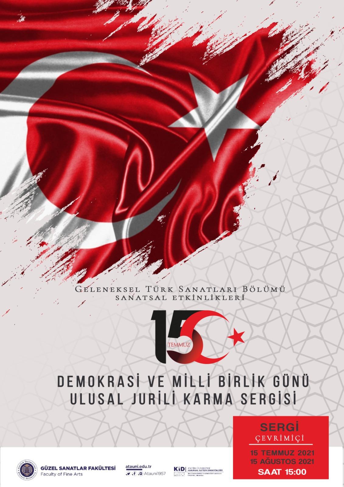 Demokrasi ve Milli Birlik Günü Ulusal Jurili Karma Sergi